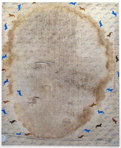 face hiver, peinture sur toile à matelas, 1994-2014 ( 142 x 175 )