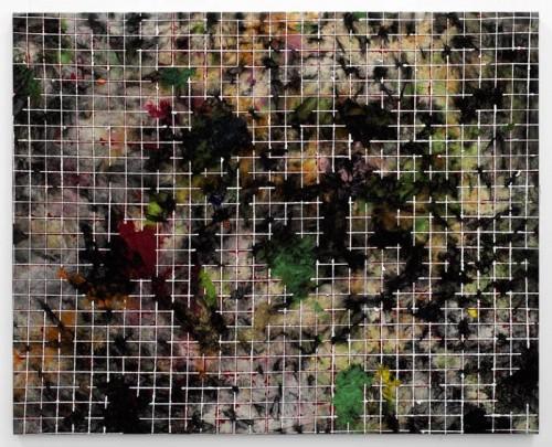 peinture abstraite au torchon 2013 (81 x 65 cm)