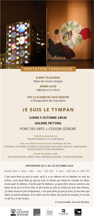 Invitation Vernissage Je suis le tympan