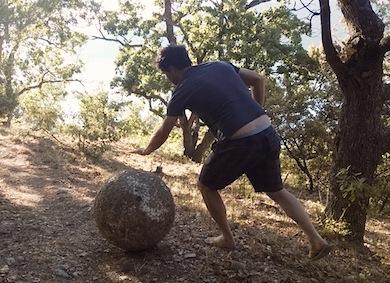la boule en vacances/ Olivier Peyronnet /août 2017